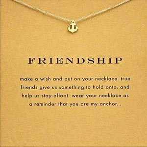 Friendship anchor necklaces